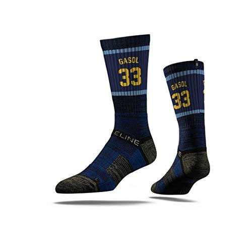 Strideline NBA Memphis Grizzlies Marc Gasol Jersey Premium Athletic Crew Socks, One Size