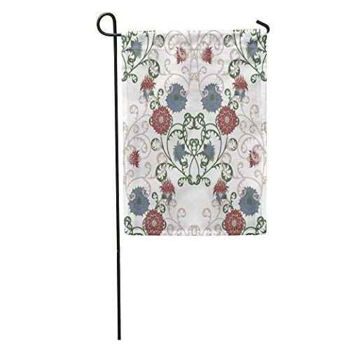 Semtomn Garden Flag Floral Rapport in Vintage Big Flowers of Michaelmas Daisy Aster Home Yard House Decor Barnner Outdoor Stand 12x18 Inches ()