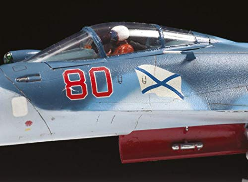 Zvezda 7297 - Russian Naval Fighter SUKHOI SU-33 Flanker-D - Scale 1/72 Lenght 11.75 247 Parts