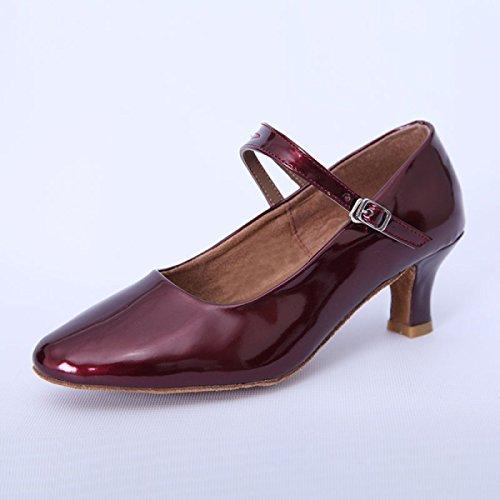 38 plus Bal Salsa Chaussures Med Salle Femmes Des D Satin De De Danse Sandales Professionnelles Couleurs Fille Supérieure Latines Chaussures HqH84Z