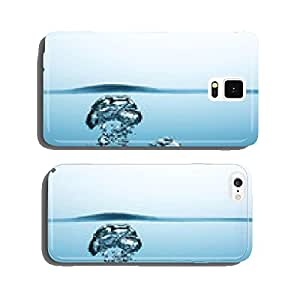 Air bubbles in water cell phone cover case Samsung S5