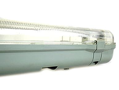 Plafoniere Stagna 120 : Plafoniera stagna doppio tubo led t cm neon a