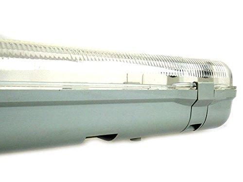 Plafoniera Neon Led Da Esterno : Plafoniera stagna doppio tubo led t8 60cm x 2 neon a