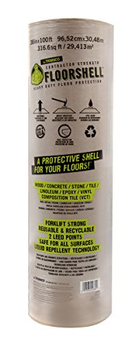 Trimaco 12380 FloorShell Heavy Duty Surface Protector, 38-Inch X 100-Feet - Roll Protect