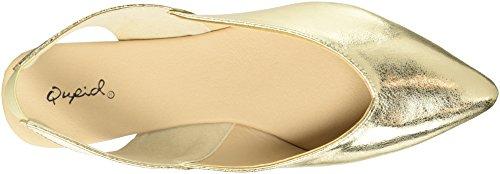 Qupid Women's Pointy Toe Ballerina Ballet Flat Gold vzqilZex