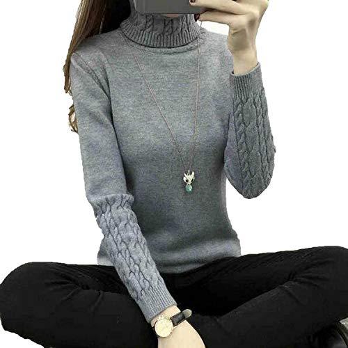 Women Turtleneck Winter SweaterLong Sleeve Knitted Sweaters