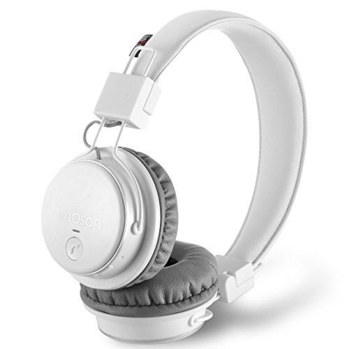 Fm Stereo Wireless Headphone (Bluetooth Headphones,imbson Q8 Wireless Headset,Stereo Foldable Headsets with Microphone,Support Hands-free Calling/FM radio / Micro SD / TF card player and 3.5mm Aux(White))