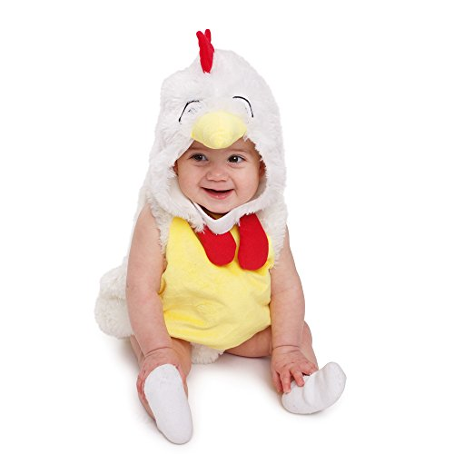 Rooster Costumes (Dress Up America Baby Plush Rooster Chicken Kids loveable Costume)