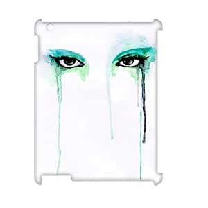 TOSOUL Watercolor Pattern 3D Case for iPad 2,3,4