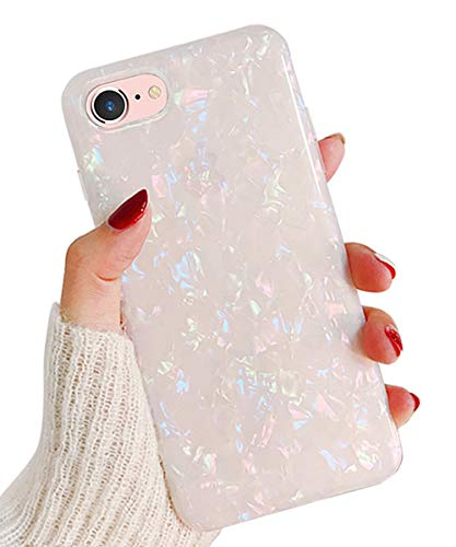 J.west iPhone 8 Case, iPhone 7 Case, Cute Phone Case Girls Women Glitter Pretty Design Sparkle Translucent Clear Bumper Shockproof TPU Shell Soft Silicone Back Cover Case for iPhone 7/8 4.7 Colorful