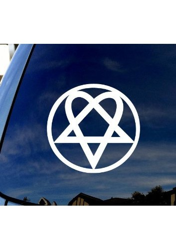 HIM Rock Band Symbol - Vinyl - 4' tall (Color: WHITE) decal laptop tablet skateboard car windows stickers