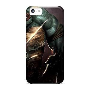 Iphone 5c NDm14147QWEL Unique Design Nice Raphael Teenage Mutant Ninja Turtles Pictures Protector Cell-phone Hard Covers -AnnaDubois