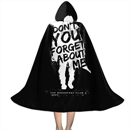 Halloween Costumes Breakfast Club (SEDSWQ Breakfast Club Dont You Forget About Me Text Unisex Kids Hooded Cloak Cape Halloween Xmas Party Decoration Role Cosplay Costumes)