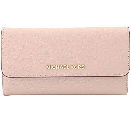 24600e06a777 Michael Kors Jet Set Travel Large Trifold Signature PVC Wallet (Pastel  Pink) from Michael