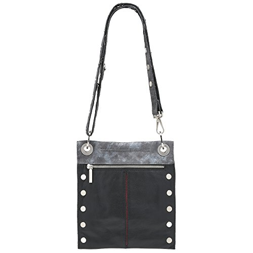 Women's Zip Medium Awa Reverse Silver Buffed Black Brushed Hammitt silver Montana Bag Red Crossbody BOqRWqZdw