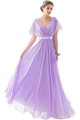 LaMarie Braut Lilac Chiffon vausschnit Abendkleider ...