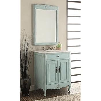 26 Cottage Style Pastel Light Blue Daleville Bathroom Sink Vanity Mirror Set Model 838lb Mir