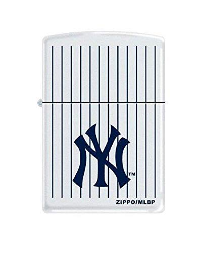 Zippo Personalized Message Engraved on Backside New York NY Baseball Yankees MLB Windproof Brush Style Zippo Lighter