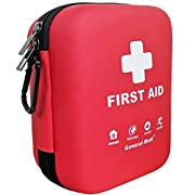 First Aid Kit – 170 Pieces Hard Case and Lightweight – Includes 2 x Eyewash,Instant Cold Pack,Emergency Blanket for…