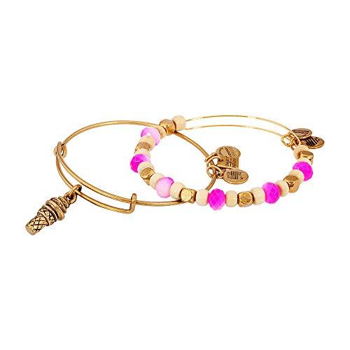 Alex and Ani Women's Sweet Treat Set of 2 Bracelet Rafaelian Gold One Size (Ice Cream Cone Bracelet)