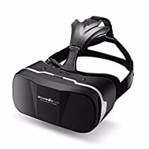 BlitzWolf VR Headset 3D Viewer Glasses Virtual Reality Box Upgraded Version Movies Games Helmet for Up to 6 inch iPhone Samsung LG SONY Moto Nexus and more Christmas Gifts