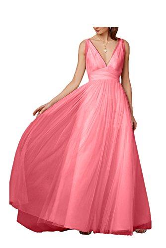 Missdressy - Vestido - trapecio - para mujer Wassermelone