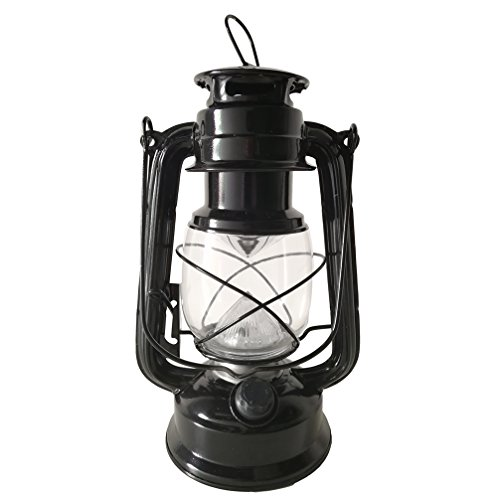 Luwint Vintage LED Hurricane Lantern with Dimmer Switch and 12 LEDs - Traditional Look Hanging or Hand-held Lantern for Camping Hiking Outages Home Decor, 2 Pack D Batteries Operated (Not Included)