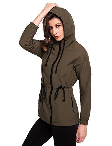 Militaire Femme Fastdirect Vert Manteau Imperméable wXqOwxfH6