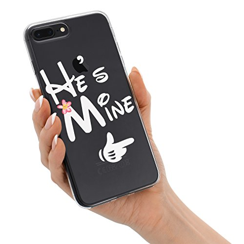 79270c2d00 iPhone X Case Cute He's Mine She's Mine Funny Cute Love King Queen  Boyfriend Girlfriend Couple Matching Christmas Gifts Stuff Clear iPhone X  Couple Case ...