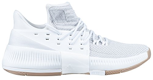 adidas Dame 3 Shoe Mens Basketball 11.5 White-White-Gum