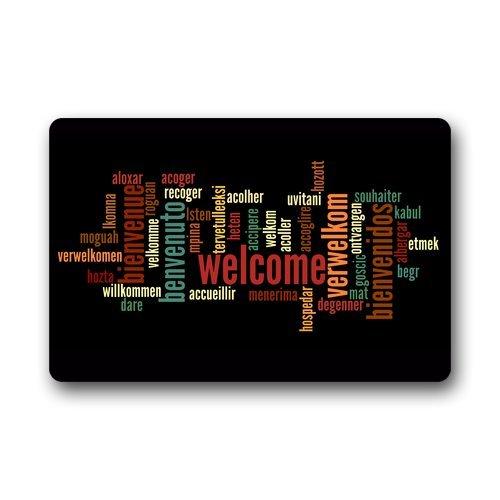 Custom Decorative Door Mat Welcome In Words Machine-wahable Indoor/Outdoor Doormat Voguecustomized