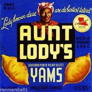 American Magnet MAGNET Scott Louisiana Aunt Lody's Sweet Potato Yam Yams Vegetable Crate Magnet Print