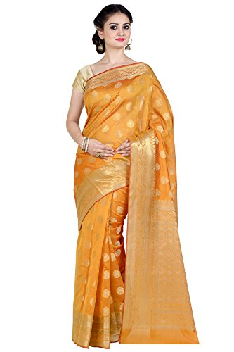 Chandrakala Women's Gold Cotton Silk Blend Banarasi Saree,Free Size(8880) ()