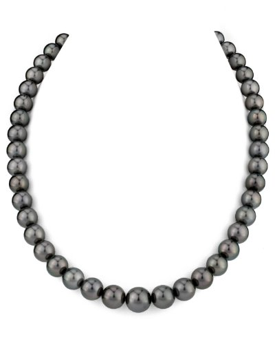 14K Gold 8-10mm Tahitian South Sea Cultured Pearl Necklace - AAA Quality, 18