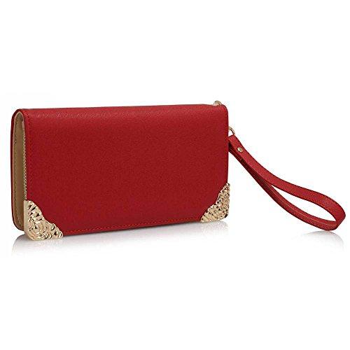 TrendStar - Cartera de mano para mujer - Rouge