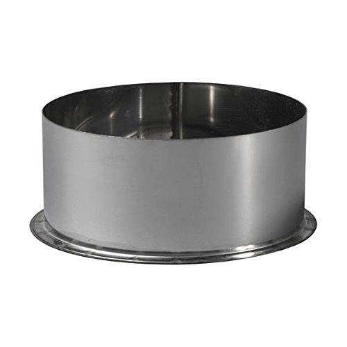 Tampon male pour tuyau inox 304 D : 200 Epaisseur 4/10è me acier inoxydable Ré f 106200 Ten