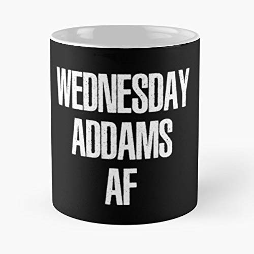 Wednesday Addams Family Halloween Coffee Mugs Unique Ceramic Novelty Cup ()