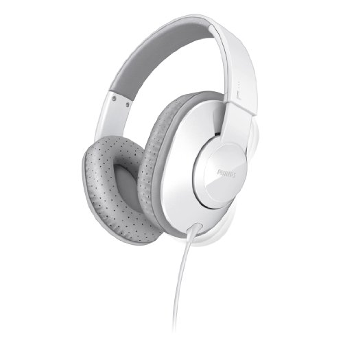Philips SHL4500WT Frame Headphones for Dynamic Bass 40 mm Neodymium Speaker Drivers (Philips Personal Audio Earphones)