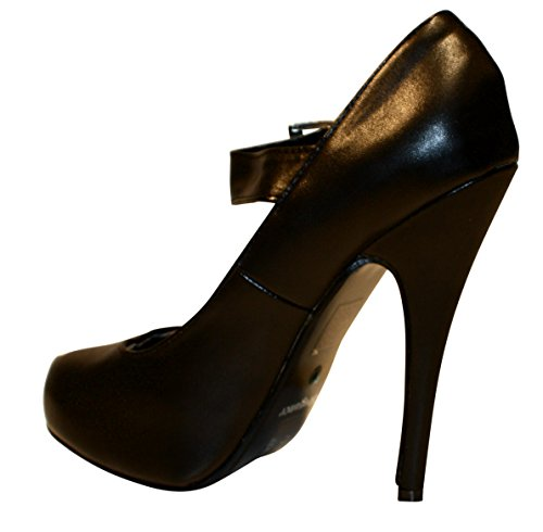 Erogance Plateau High Noir Chaussures Compensées Kunstleder Heels Femme wZwp8qH
