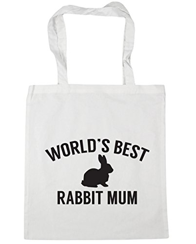 Tote Gym World's 42cm Beach Bag 10 White mum litres x38cm rabbit Shopping HippoWarehouse best dzIYwqqU
