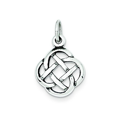 Sterling Silver Antiqued Celtic Knot Charm (Celtic Charm Womens)