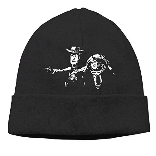 Winter TOY STORY PULP FICTION Black Unisex Warm Wool Hat For Women