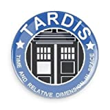Doctor Who Tardis 1 Inch Button Dr