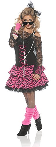 Women's 80's Flashback Retro Pop Star Costume - (Pop Star Halloween Costumes For Adults)