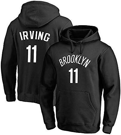 Sudadera para Hombre Fans de la NBA Jersey Brooklyn Nets Kyrie Irving Sudadera con Capucha con Mangas largas con cordón Casual Cómodo Jersey S-XXXL