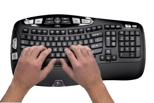 Logitech Wireless Wave Combo Mk550 With Keyboard and Laser Mouse