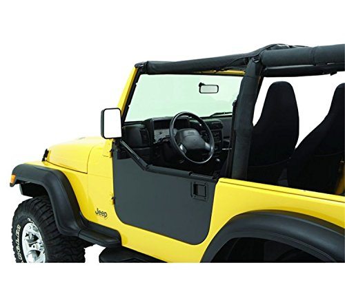 Bestop 51792-01 Black HighRock 4X4 Element Door Enclosure Kit for 1980-2006 CJ-7 and Wrangler - Front