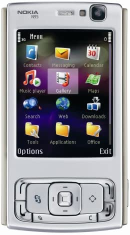 Nokia Version Player With Mp Unlocked 5 Cell Wi-fi Slot--international Camera Mp3 Phone 3g N95 Warranty video Microsd International Gps