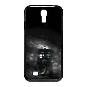 Doctor Who Series, Samsung Galaxy S4 Cases, Doctor Who Police Box Abstract Silhouette Cases For Samsung Galaxy S4 [Black]