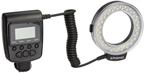 Lens Mount Ring Flashes - Polaroid 48 Macro LED Ring Flash & Light Includes 4 Diffusers (Clear, Warming, Blue, White) For The Canon Digital EOS Rebel SL1 (100D), T5i (700D), T5 (1200D), T4i (650D), T3 (1100D), T3i (600D), T1i (500D), T2i (550D), XSI (450D), XS (1000D), XTI (400D), XT (350D), 1D C, 70D, 60D, 60Da, 50D, 40D, 30D, 20D, 10D, 5D, 1D X, 1D, 5D Mark 2, 5D Mark 3, 7D, 6D Digital SLR Cameras (Will Fit 49,52,55,58,62,67,72,77mm Lenses)
